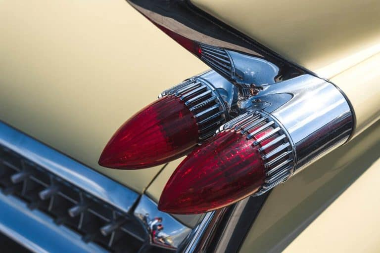 tail light of american classic car
