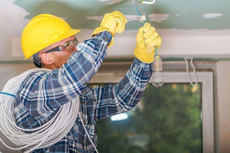 Electricians Insurance ceiling installation