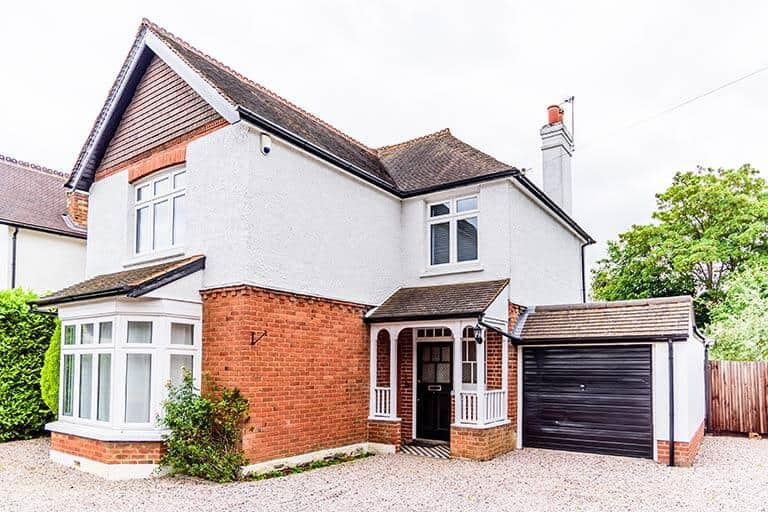 large family home with garage
