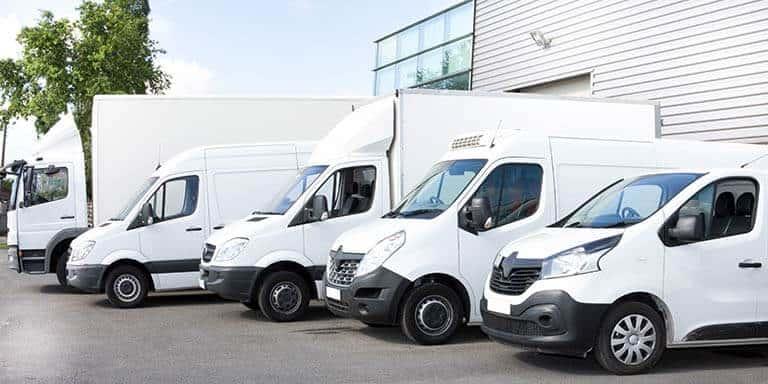 fleet of lorries and vans