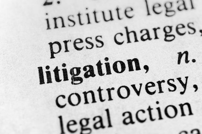 definition of litigation in the dictionary