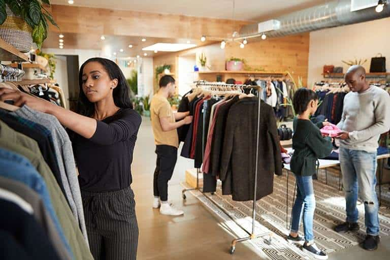 customers shopping in pop up shop