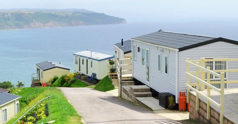 static caravans overlooking the sea