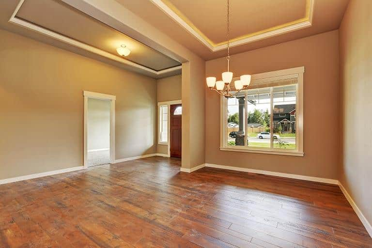 empty living room in house